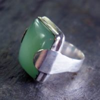 Chrysoprase Rings :  lovely ways to wear the lovely Apple-Green Birthstone of May